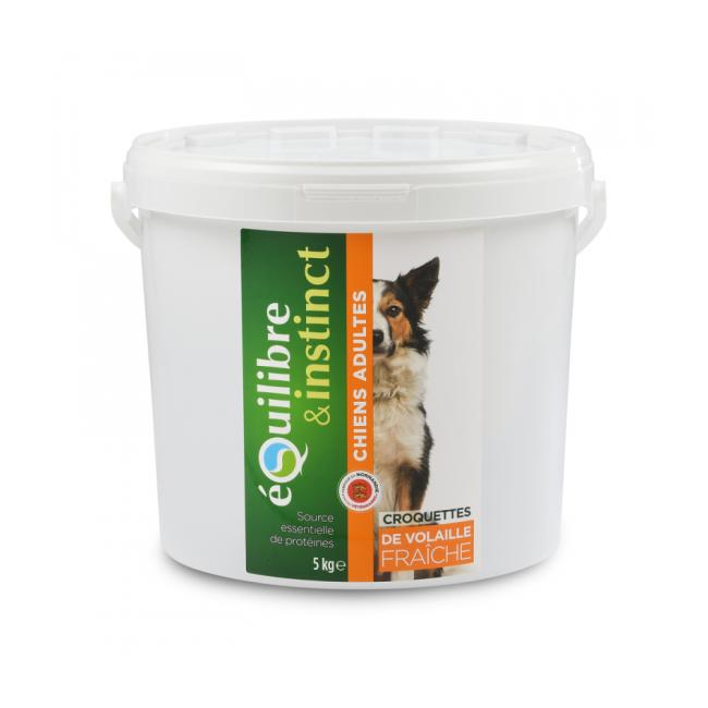Equilibre & Instinct Croquettes pour chien Adulte Equilibre & Instinct volaille fraîche - Seau 5 kg