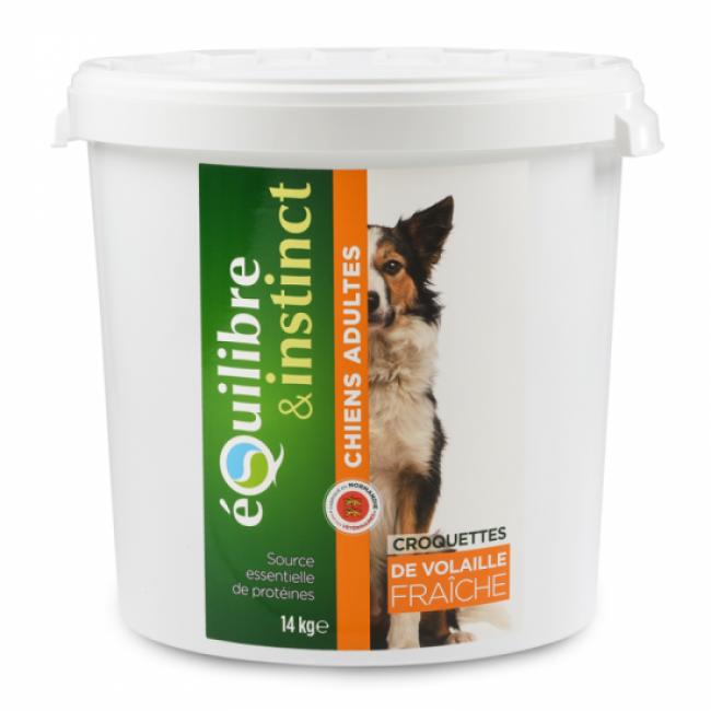 Equilibre & Instinct Croquettes pour chien Adulte Equilibre & Instinct volaille fraîche - Seau 14 kg