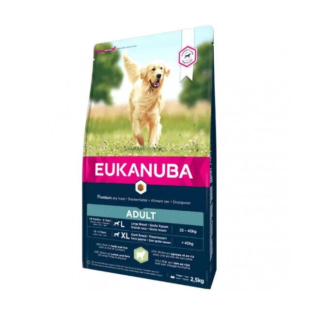 Eukanuba Croquettes pour chien adulte grandes races Eukanuba agneau et riz Sac 12 kg