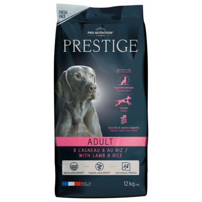 Pro-Nutrition Flatazor Croquettes pour chien adulte Prestige Flatazor Pro Nutrition agneau et riz Sac 12 kg