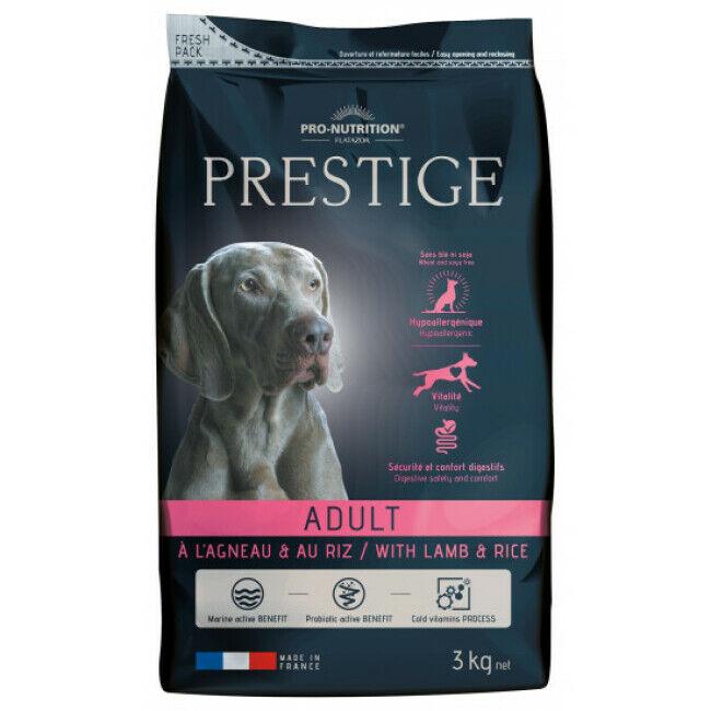 Pro-Nutrition Flatazor Croquettes pour chien adulte Prestige Flatazor Pro Nutrition agneau et riz Sac 3 kg