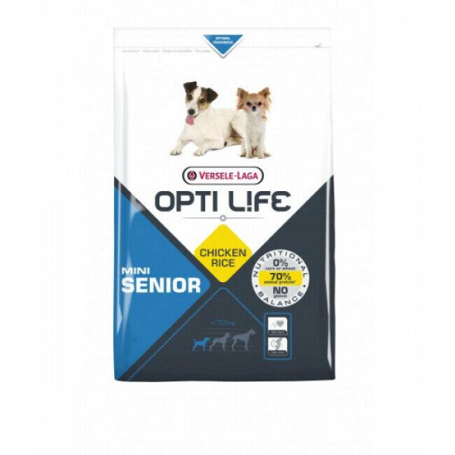 Opti-Life Croquettes pour chien senior petite taille Opti Life Sac 2,5 kg