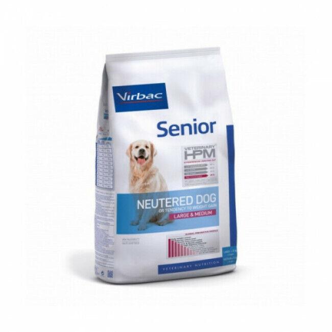 Virbac Croquettes pour chien senior stérilisé grande et moyenne race Virbac HPM Sac 7 kg