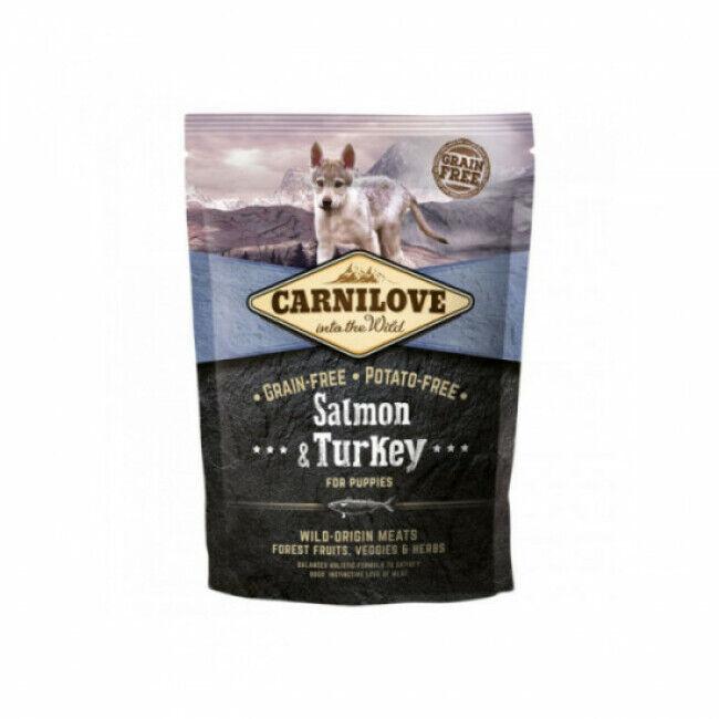 Carnilove Croquettes pour chiot Carnilove saumon & dinde Sac 1,5 kg