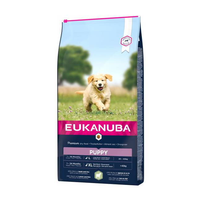 Eukanuba Croquettes Eukanuba Junior Agneau et Riz Sac 12 kg (DLUO 3 mois)
