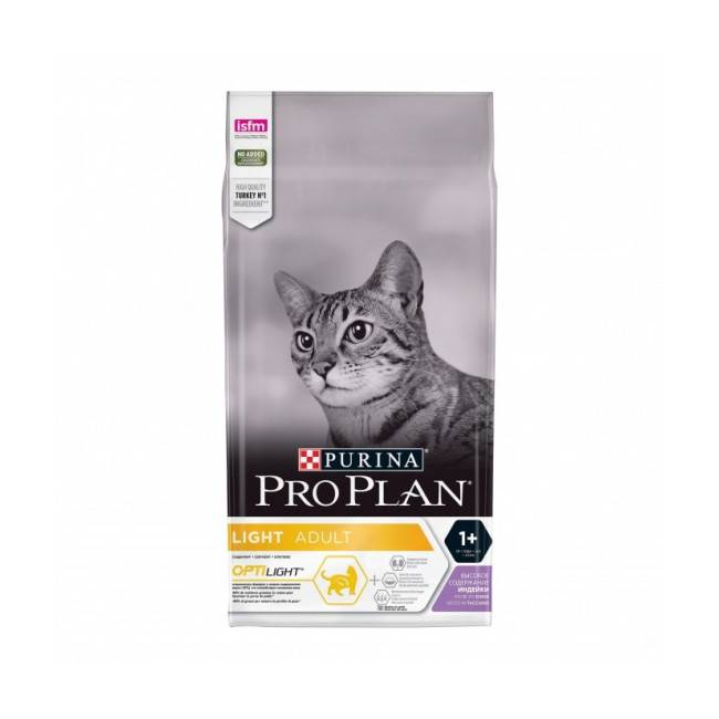 Proplan Croquettes Pro Plan Light chat adulte à la dinde sac 3 kg