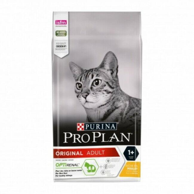 Proplan Croquettes Pro Plan pour chat poulet et riz sac 3 kg