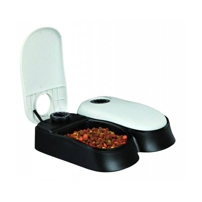 Trixie Distributeur automatique de nourriture pour chien et chat Trixie TX2 Blanc et Noir