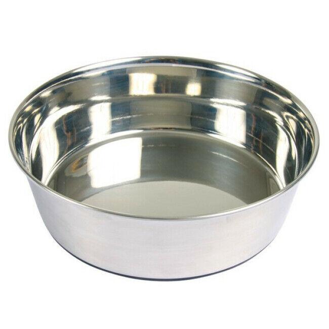 Trixie Ecuelle en acier inox anti-dérapante Trixie pour chiens Contenance 2,5 litres Diamètre 24 cm