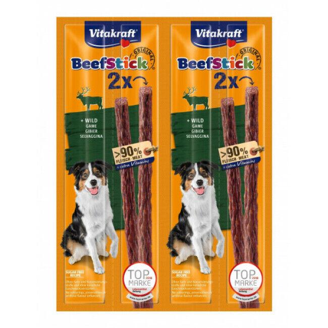 Vitakraft Friandises pour chien Beef Stick Vitakraft au gibier lot de 4
