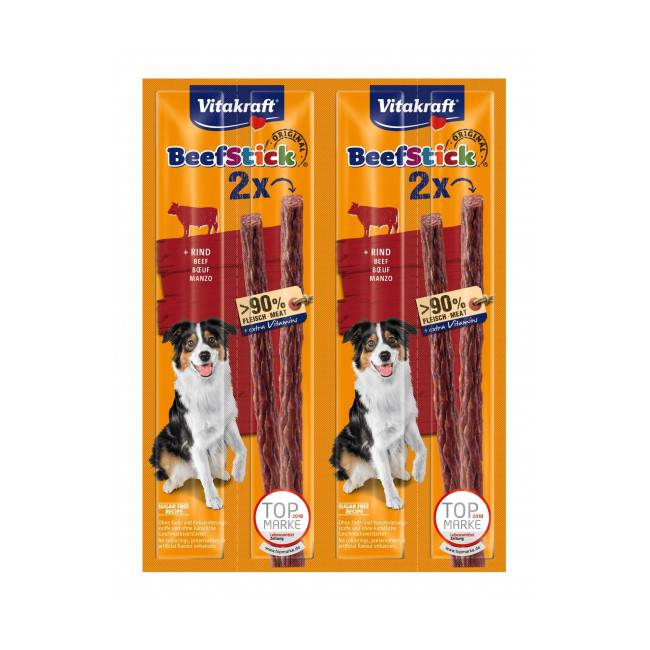 Vitakraft Friandises pour chien Beef Stick Vitakraft au boeuf lot de 4