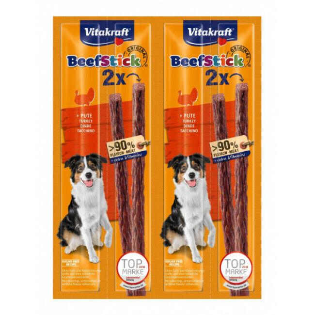 Vitakraft Friandises pour chien Beef Stick Vitakraft à la dinde lot de 4