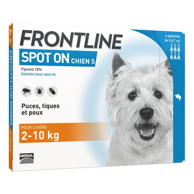 Frontline Spot on Anti puce et tique pour chien 10 à 20 kg (pack 4 pipettes 1.34 ml)
