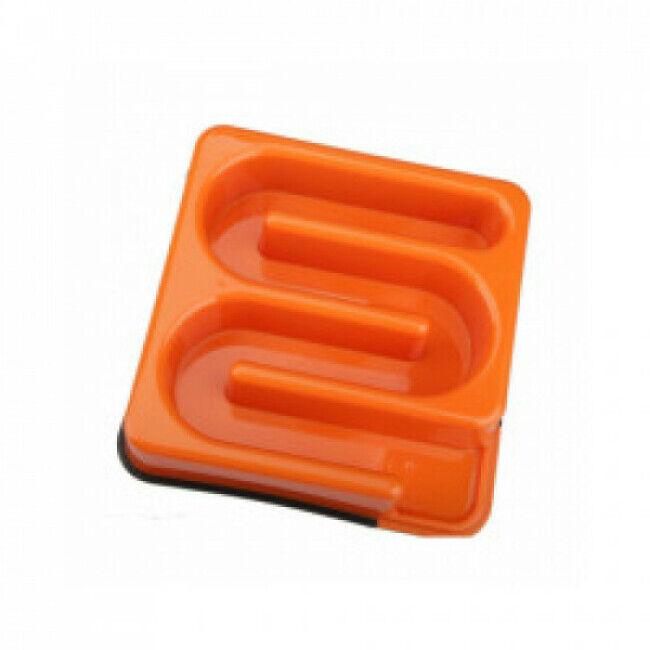 M-Pets Gamelle anti glouton carrée labyrinthe M-Pets 1,2 litres Orange