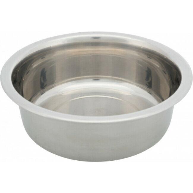 Trixie Gamelle en acier inoxydable pour chien Trixie - 2,4 Litres / ø 25 cm