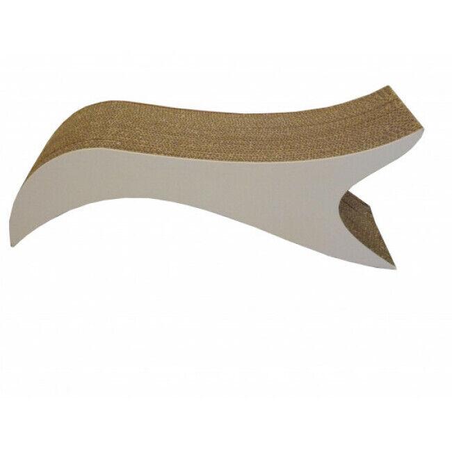 Cat Design Griffoir pour chat en carton déco Poisson - 21 × 23 × 52 cm
