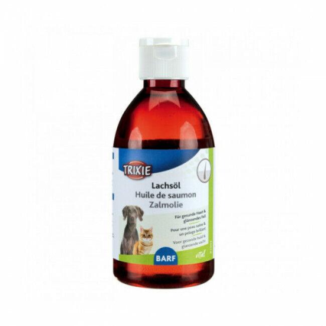 Trixie Huile de saumon complément alimentaire pour chien et chat Trixie 250 ml (DLUO 3 mois) (DLUO 3 mois)