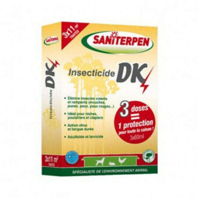 Saniterpen Insecticide concentré pour animaux DK Choc 3 x 60 ml Saniterpen