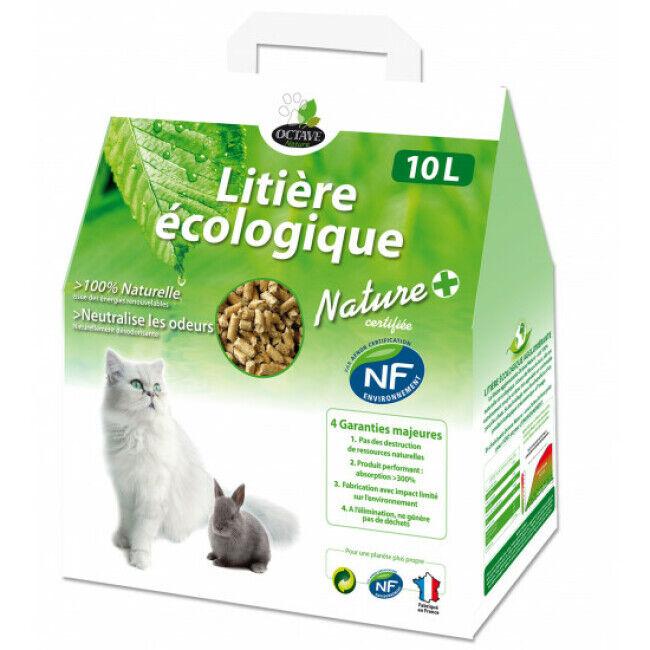 Octave Litière écologique naturelle pour chats et rongeurs en granules Naturlys Sac 10 litres