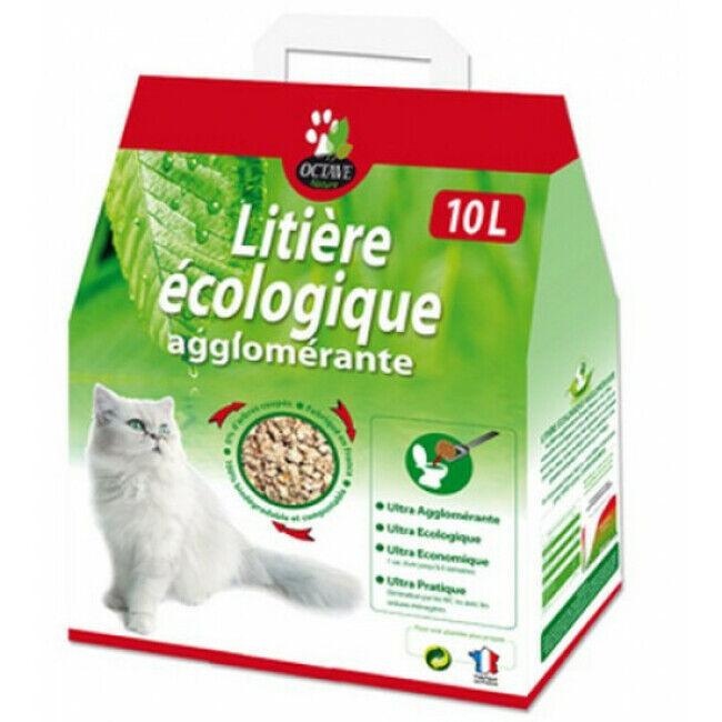 Naturlys Litière pour chat écologique et agglomérante Octave Naturlys Sac 10 litres