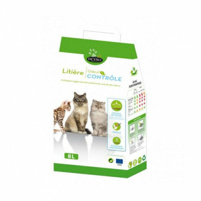 Octave Litière pour chat écologique et agglomérante Octave Naturlys Sac 8 litres