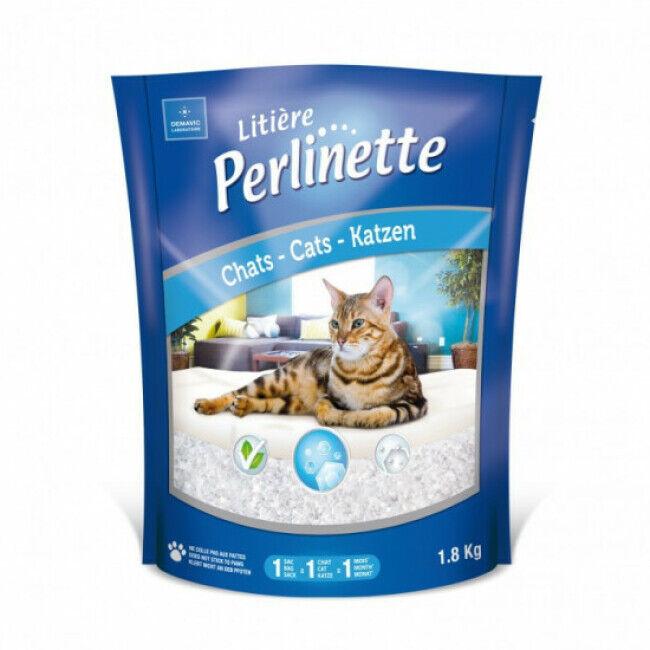Perlinette Litière Perlinette cristaux pour chat Sac 1,8 kg