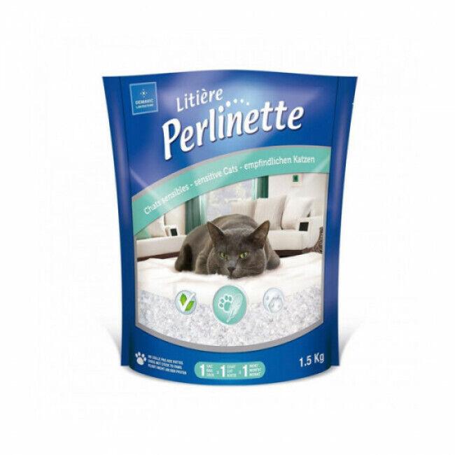 Perlinette Litière Perlinette pour chat sensible Sac 1,5 kg