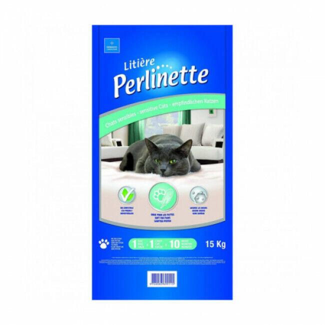 Perlinette Litière Perlinette pour chat sensible Sac 15 kg