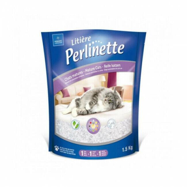 Perlinette Litière Perlinette silice pour chat mature - Sac 1,5 kg