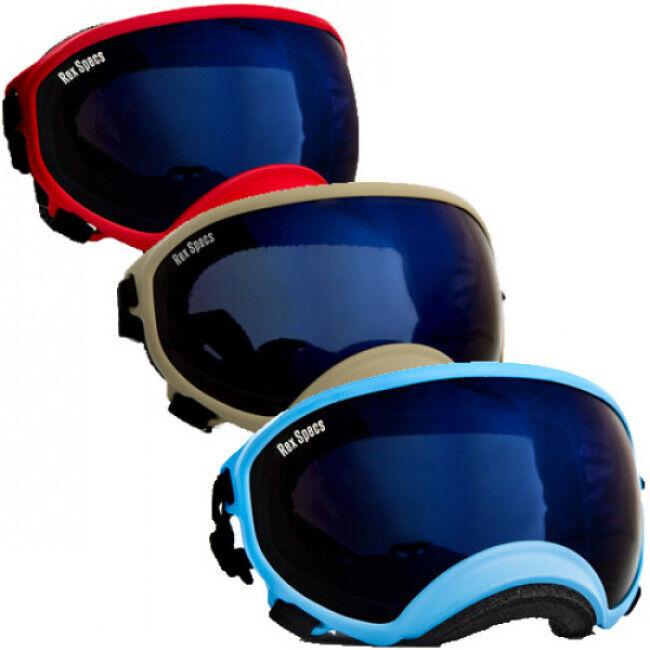 Rex-Specs K9 Masque Rex-Specs Large Rouge lentilles claire et fumée