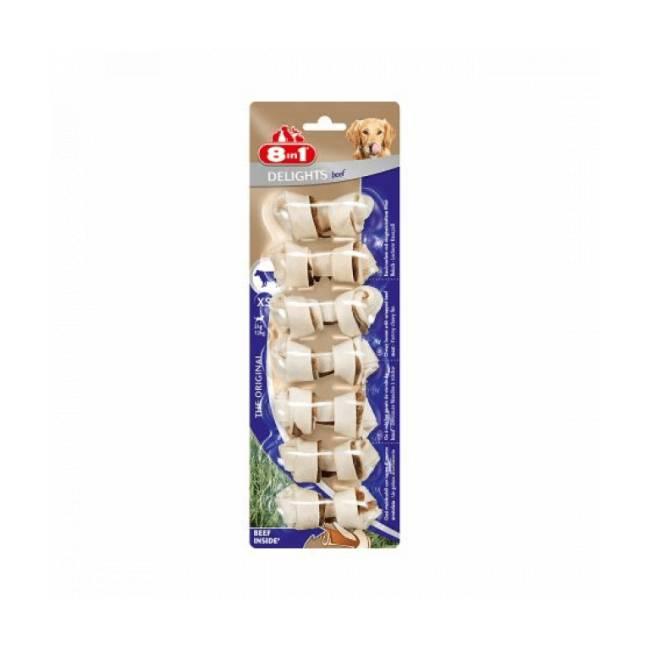 8in1 Os à mâcher pour chien saveur boeuf 8 in 1 Delights Taille XS - 7 pièces