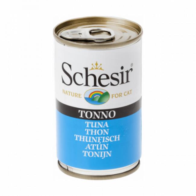 Schesir Pâtée en gelée pour chat Schesir - Boîte 140 g Thon