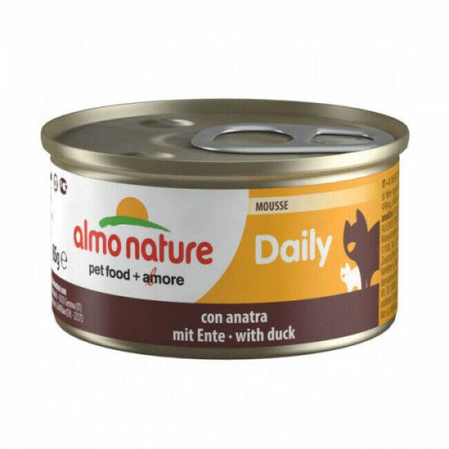 Almo Nature Pâtée pour chat Daily Menu Almo Nature - lot 6 boîtes 85 g Mousse avec canard