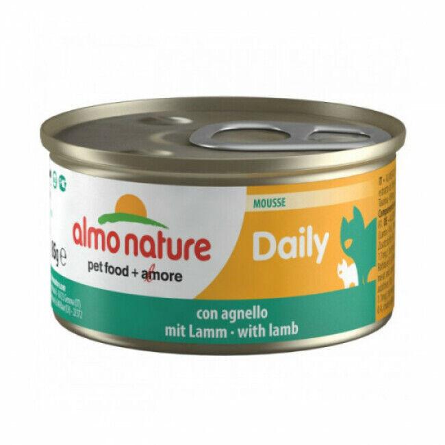 Almo Nature Pâtée pour chat Daily Menu Almo Nature - lot 6 boîtes 85 g Mousse avec agneau