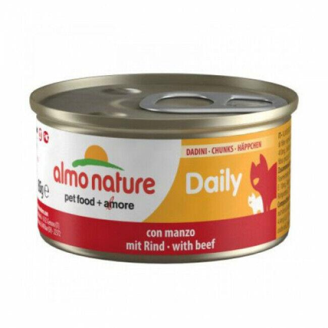 Almo Nature Pâtée pour chat Daily Menu Almo Nature - lot 6 boîtes 85 g Morceaux de truite
