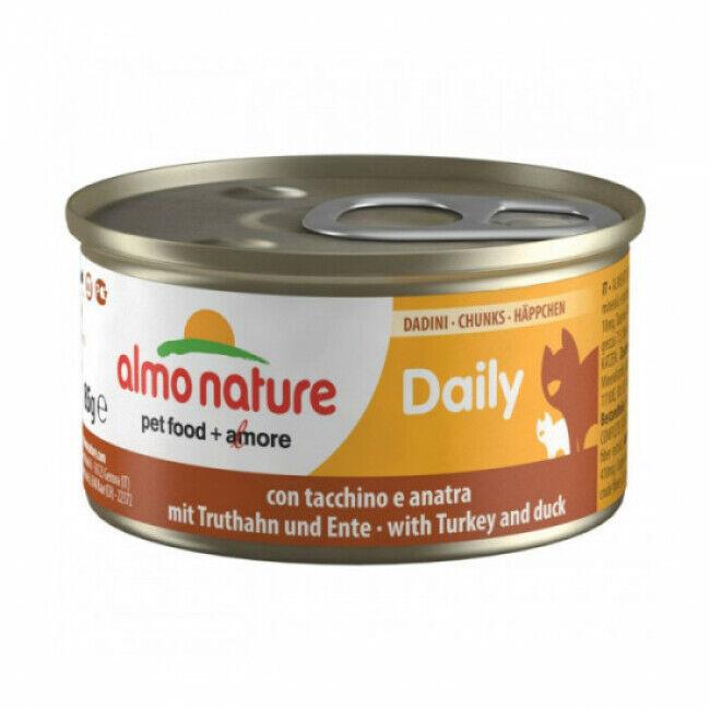 Almo Nature Pâtée pour chat Daily Menu Almo Nature - lot 6 boîtes 85 g Morceaux dinde et canard