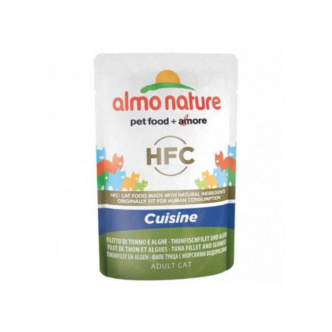 Almo Nature Pâtée pour chat HFC Cuisine Almo Nature - Lot de 6 pochons 55 g Filet de thon et algues