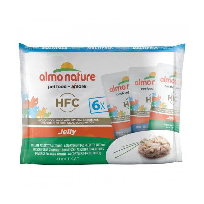 Almo Nature Pâtée pour chat HFC Jelly Almo Nature - Lot de 6 sachets en gelée x 55 g Thon