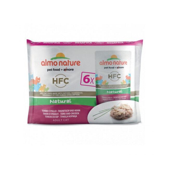 Almo Nature Pâtée pour chat Almo Nature HFC Natural - Multipack 6 pochons x 55 g Thon et poulet