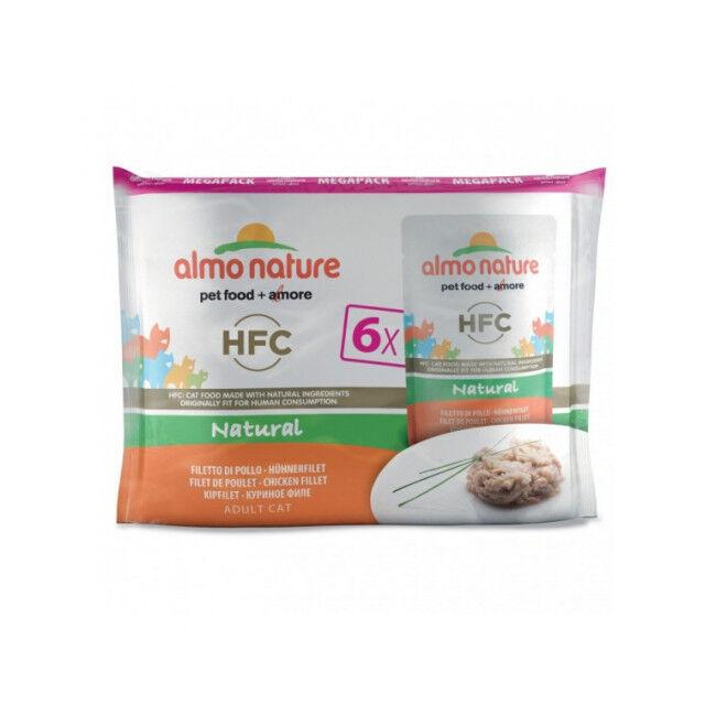 Almo Nature Pâtée pour chat Almo Nature HFC Natural - Multipack 6 pochons x 55 g Filet de poulet