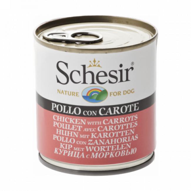 Schesir Pâtée pour chien Schesir en gelée - Boîte 285 g Poulet avec carottes