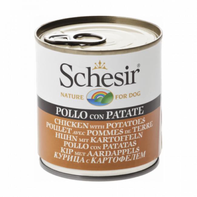 Schesir Pâtée pour chien Schesir en gelée - Boîte 285 g Poulet avec pommes de terre