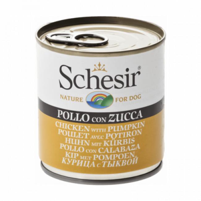 Schesir Pâtée pour chien Schesir en gelée - Boîte 285 g Poulet avec potiron