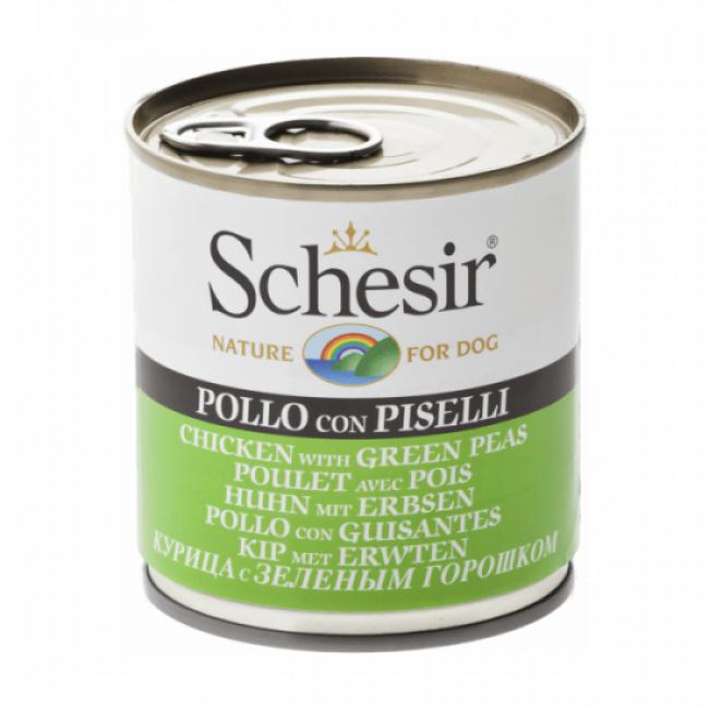 Schesir Pâtée pour chien Schesir en gelée - Boîte 285 g Poulet avec pois