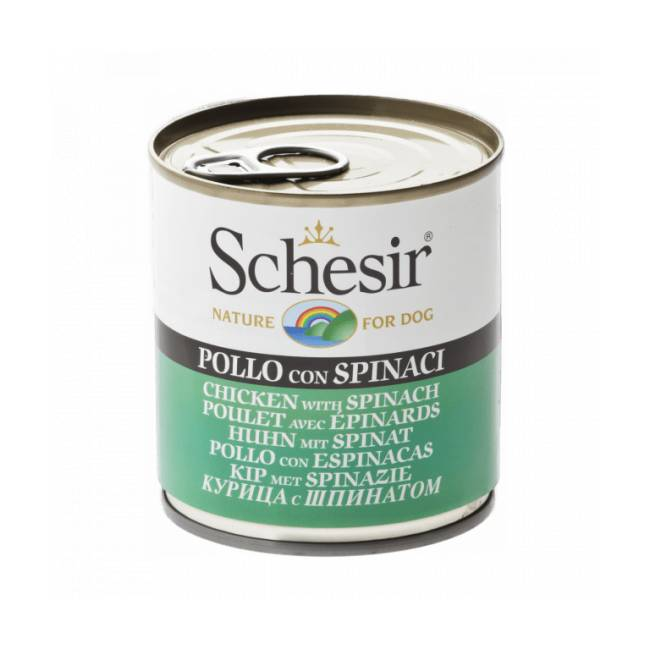 Schesir Pâtée pour chien Schesir en gelée - Boîte 285 g Poulet avec épinards