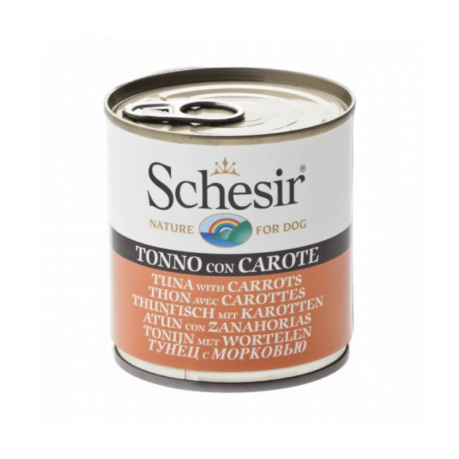 Schesir Pâtée pour chien Schesir en gelée - Boîte 285 g Thon avec carottes