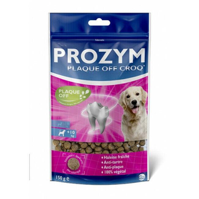 Prozym Pastilles dentaires Prozym Plaque Off Croq' pour chien  10 kg - Pack de 6 sachets de 150 g