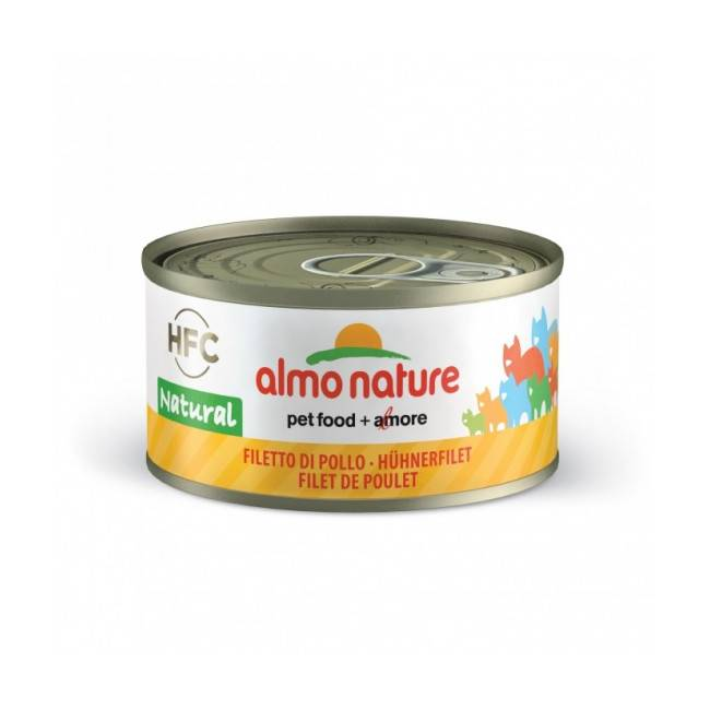 Almo Nature Pâtée pour chat Almo Nature HFC Natural - Lot de 6 x 70 g Cuisse de poulet
