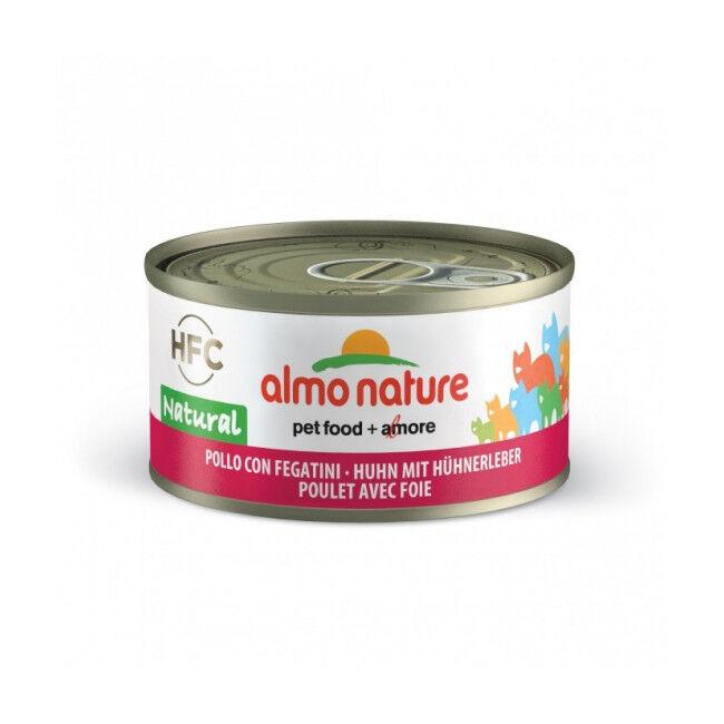 Almo Nature Pâtée pour chat Almo Nature HFC Natural - Lot de 6 x 70 g Poulet et Foie