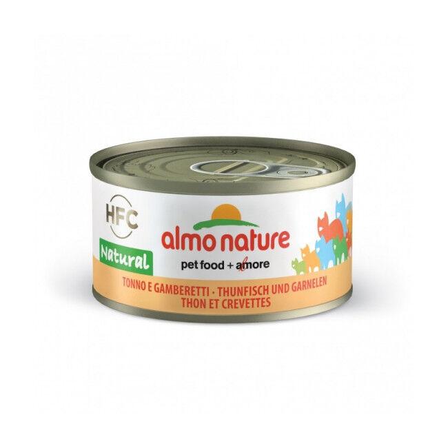 Almo Nature Pâtée pour chat Almo Nature HFC Natural - Lot de 6 x 70 g Thon avec coques et palourdes